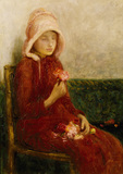 RED ROSES by Edward Stott (1859-1918) from the Drawing Room at Standen