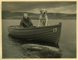 Margaret and Dog in a Boat