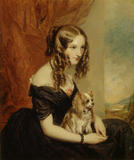 SELINA, Countess of Bradford by G. Clarke, after Sir Francis Grant, P.R.A (1803-78) at Hughenden Manor in the Drawing Room.