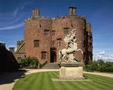 View of the west front of Powis Castle and the statue of Fame (c. 1705)