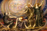 THE MOURNERS by EVELYN DE MORGAN, painted in 1917