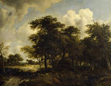LANDSCAPE WITH COPPICE by Meindert Hobbema (1638-1709) from the Somerset Room at Petworth House
