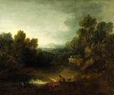 A POOL WITH SHEPHERD AND CATTLE by Thomas Gainsborough (1727-88) Apparently the picture so much admired by Constable when he stayed at Petworth in 1834