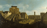 PIAZZA DEL CAMPIDOGLIO painted by Bellotto, housed at Petworth in the Beauty Room