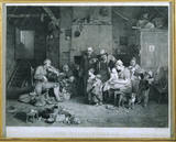 THE BLIND FIDDLER, after David Wilkie, 1806, (Tate Gallery) engraved by John Burnet, showing a family being entertained by the music of the Fiddler