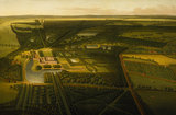 BIRDS EYE VIEW OF DUNHAM MASSEY FROM THE NORTH by John Harris c. 1750