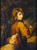 Piping Shepherd Boy by Sir Joshua Reynolds (1723-92)