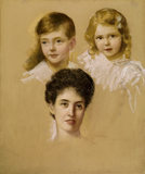 "J. ERNEST BREUN (1862- 1921) ""Penelope Theobald Countess of Stamford, and her two children"""