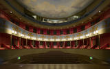 The auditorium, seen from the stage, at the Theatre Royal, Bury St Edmunds, Suffolk