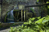 The waterwheel on the mill at Cotehele, near Saltash, Cornwall