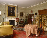 The Drawing Room at Carlyle's House, 24 Cheyne Row, London, the home of writer Thomas Carlyle and his wife from 1834 to 1881