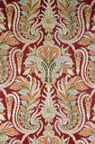 Detail of the patterned wallpaper in the Red Room at Mottisfont Abbey, Hampshire