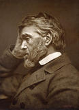 THOMAS CARLYLE, 1865, carbon photograph by Elliott and Fry, in the Parlour at Carlyle's House, 24 Cheyne Row, London