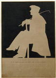 A silhouette of Lord Byron at Carlyle's House, 24 Cheyne Row, London