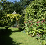 A view of the garden at Clevedon Court