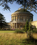 The Rotunda and North Terrace of Ickworth House, seen from the edge of the Cedar Plantation