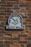 National Trust sign at Winchester City Mill, Hampshire