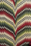 Close view of flame stitch (also known as Irish Stitch or Bargello) chair back needlepoint embroidery in the Music Room at Westwood Manor, near Bradford-on-Avon, Wiltshire