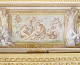 Partial view of the ceiling fresco in the Ionic Temple at Rievaulx, depicting Thetis and Peleus by Guiseppe Mattia Borgnis (1701-61) based on Annibale Carracci's Roman ceiling