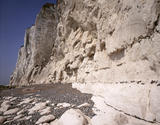 View of the cliffs north of St. Margaret's-at-Cliff, part of the White Cliffs of Dover