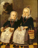 TWO DUTCH CHILDREN in the Court Room at Treasurer's House, York