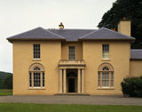East Front of Llanerchaeron villa on a small C18th Welsh estate in the Dyffryn Aeron