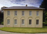 The South Front of the villa at Llanerchaeron, a small C18th Welsh gentry estate in the Dyffryn Aeron
