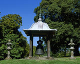 A Temple Bell from Mandalay, placed at the end of the Cork Oak Lawn at Antony