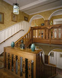 The Staircase Hall designed by Philip Webb at Standen