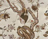 Detail of the eighteenth century Chinese Wallpaper in the Drawing Room at Ightham Mote