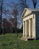 View of The Doric Temple in the gardens at Petworth