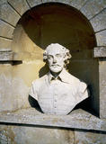 Bust of William Shakespeare in the Temple of Ancient Worthies at C18th Stowe Landscape Garden, Buckinghamshire