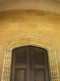 Entrance door on the west front at Montacute House, Somerset