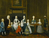 THOMAS SMITH AND HIS FAMILY by Robert West (d.1770) signed and dated R West fecit. 1735