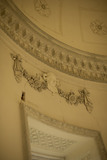 "Ornate plasterwork inside the Rotunda, one of Capability Brown's ""eye-catchers"" built 1754-7 at Croome Court, Croome Park, Worcestershire"