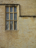 Close view of one of the leaded light windows at Montacute House, Somerset