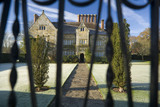 A view through the gate, on a frosty morning at Bateman's, Burwash, East Sussex