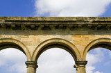 Tuscan columns and arched arcade of the Orangery, which was begun in 1772 to a design attributed to James Paine, at Gibside, Newcastle upon Tyne