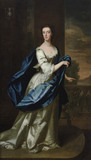 CAROLINE PAGET, LADY BAYLY (d.1766) attributed to Enoch Seeman (1690?-1745), painting in the Staircase Hall at Plas Newydd, Anglesey.