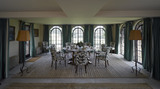 The Dining Room at Chartwell, the family home of Sir Winston Churchill, at Westerham, Kent