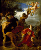 THE STONING OF ST STEPHEN by Sir Anthony van Dyck (1599-1641) from Tatton Park. Photographed in June 1993. (Formerly known as the Martyrdom of St Stephen)