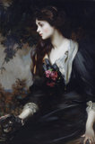 LADY MARJORIE MANNERS, LATER MARCHIONESS OF ANGLESEY (1883-1946), AGED SEVENTEEN by Sir James Jebusa Shannon, RA (1862-1923), painting in the Octagon Room at Plas Newydd, Anglesey
