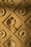 "Damage to the plasterwork flower motif of the window recess in the Rotunda, one of Capability Brown's ""eye-catchers"" built 1754-7 at Croome Court, Croome Park, Worcestershire"