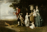 THE WOODLEY FAMILY by Johann Zoffany (1733-1810) from Kingston Lacy