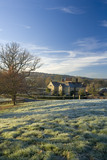 A view over the landscape on a frosty morning at Bateman's, Burwash, East Sussex