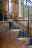 Steps to the mahogany pulpit in the Chapel, begun in 1760 to the design of James Paine, at Gibside, Newcastle upon Tyne