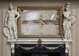 The chimneypiece in the Great Hall at Ham House, Richmond-upon-Thames