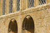 Shell-headed niches in the exterior wall at Montacute House, Somerset
