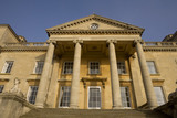 The south front of Croome Court, Croome Park, Worcestershire, with the portico and Coade sphinxes