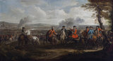 THE DUKE OF MARLBOROUGH AT THE BATTLE OF BLENHEIM by, or after Louis Laguerre (1663-1721), painting in the Staircase Hall at Plas Newydd, Anglesey